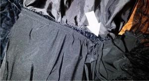 petticoat sewed to dress