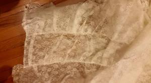 lace ruffle panel