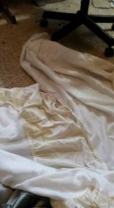 Two strips for the underskirt.