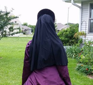 French Hood: Quick & Easy & Almost No-Sew (Eggplant
