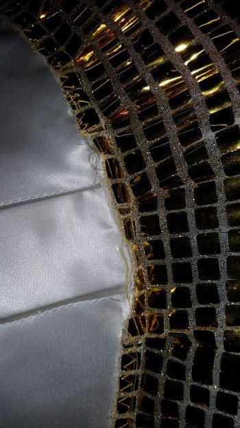 Support boards in a casing between the two layers of fabric.