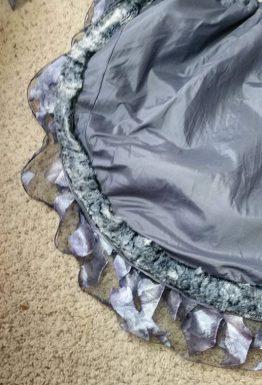 fur on skirt
