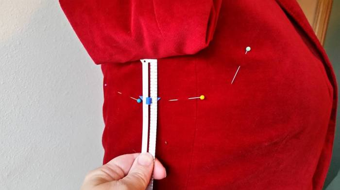 measuring pin line to transfer to other sleeve