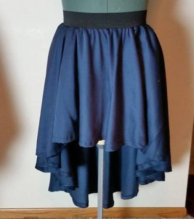 tablecloth peasant overskirt--blue