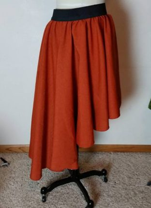 tablecloth peasant overskirt orange