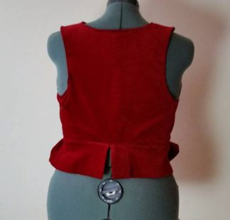 back view finished vest made from jacket