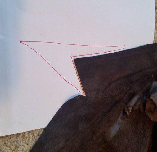 making the collar pattern
