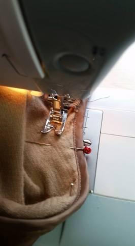 sewing around the armscye