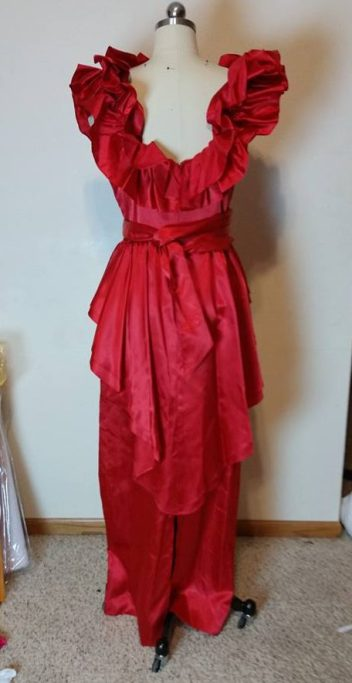 donated red dress