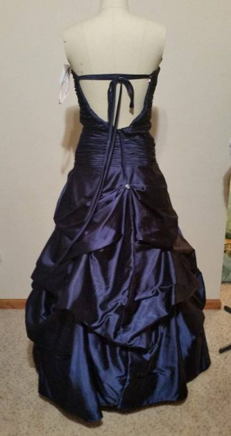 back of blue dress #1