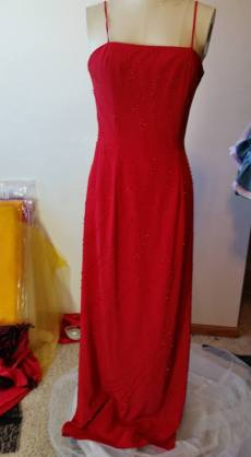 front of beaded dress