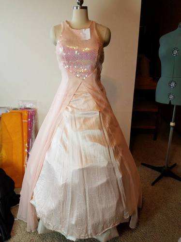 pink dress front (over cream dress)