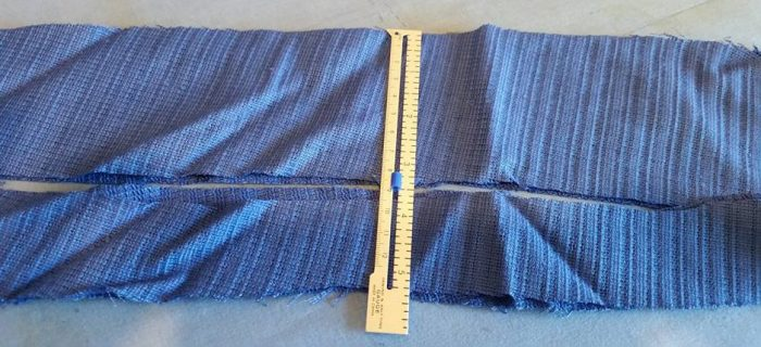 """cutting strips aobut 3"""" wide, or 1.5"""" on the fold"""