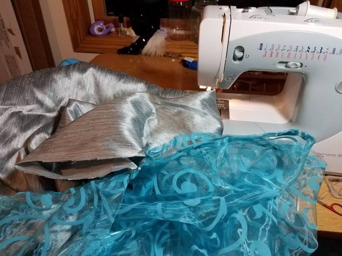 sewing the skirt