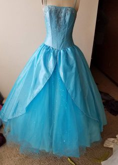 original aqua dress