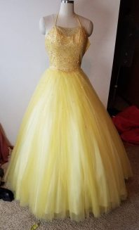 front yellow dress