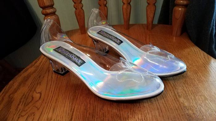 commercial glass slippers