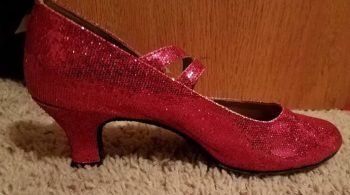 cheap glitter character shoe