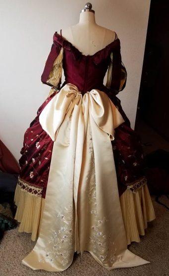 back of banquet dress