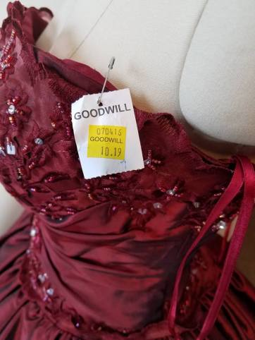 price tag on dress