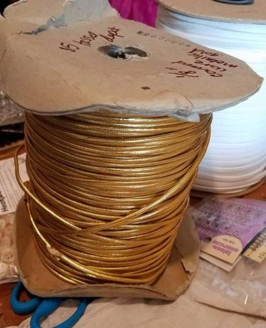 gold braid covered wire