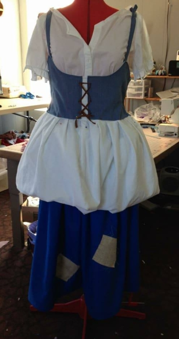 new vest, trialing a white overskirt look