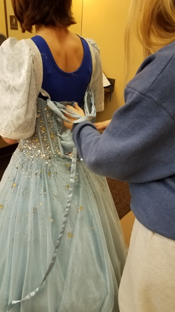 lacing the back, Marie in Cinderella