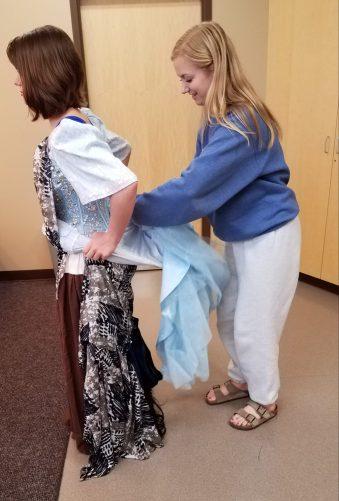 bundling the hoop, Marie in Cinderella