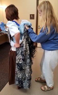 bringing up the cape, Marie in Cinderella