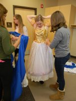 prepping original blue dress, Cinderella