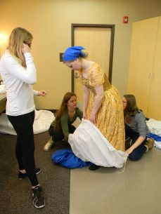 petticoat pouch coming off, Cinderella