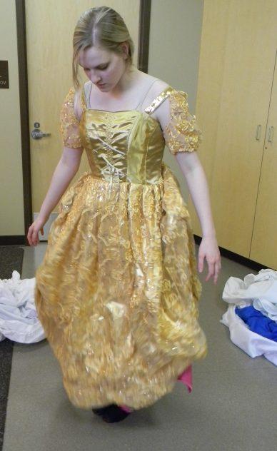 gold dress drops, Cinderella