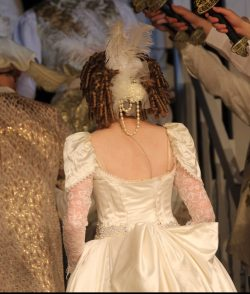 back view of wedding wear
