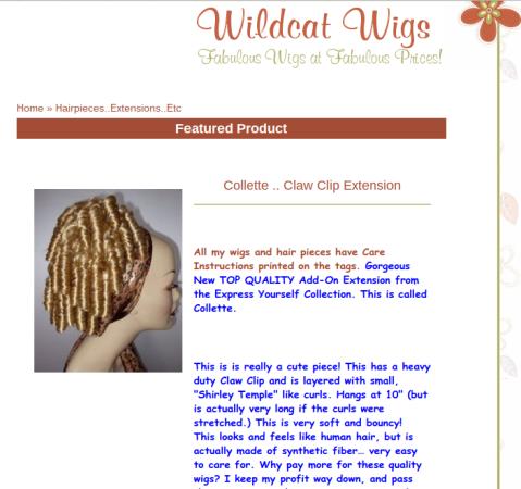 wildcat wigs colette