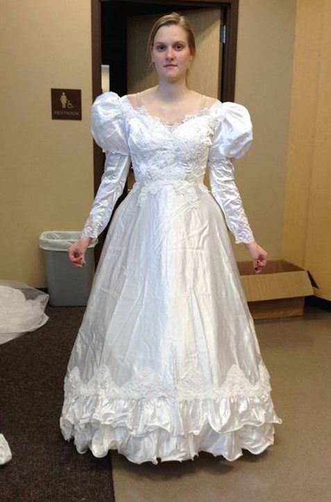 wedding dress with new sleeves
