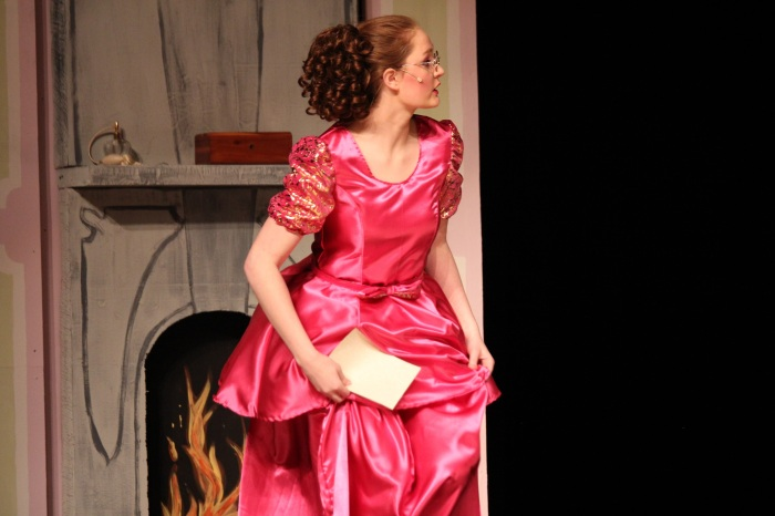 Gabrielle in pink dress, Cinderella