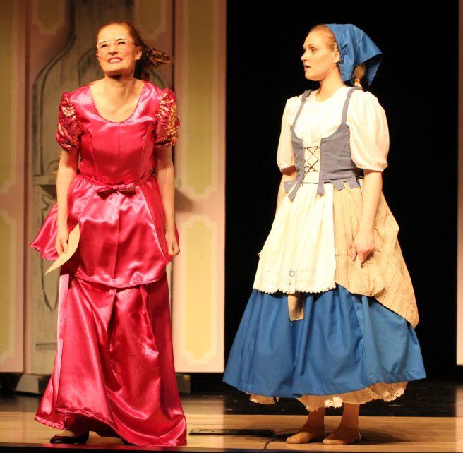 Gabrielle and Ella pre-banquet, Cinderella