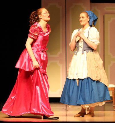 Gabrielle and Petticoat Pouch dress pre-banquet, Cinderella