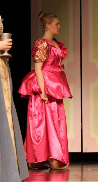 wearing Gabrielles dress, Cinderella