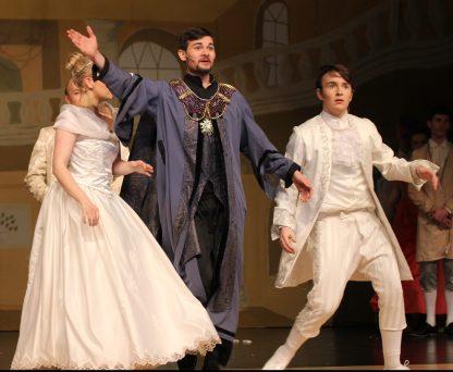 at the ball, Cinderella