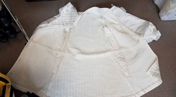 inside of Lord Pinkerton wedding tunic, Cinderella