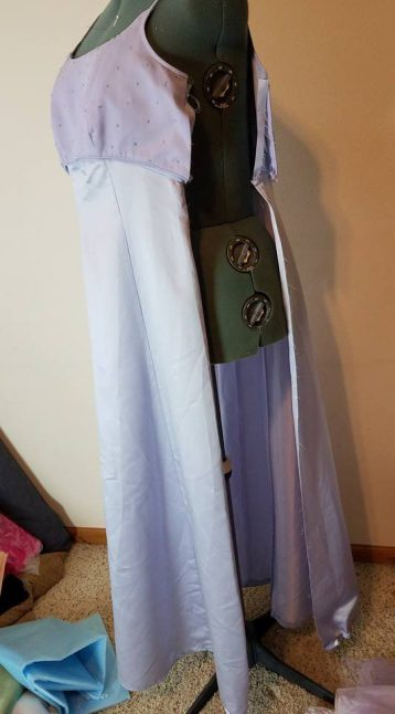 sides opened up on base dress #1