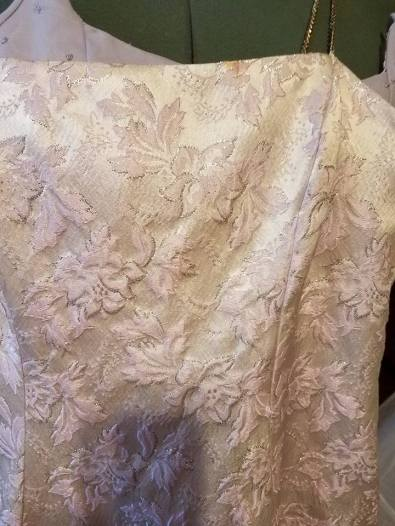 detail of overdress fabric