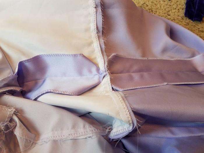 inside of dress #1--lots of seam allowance
