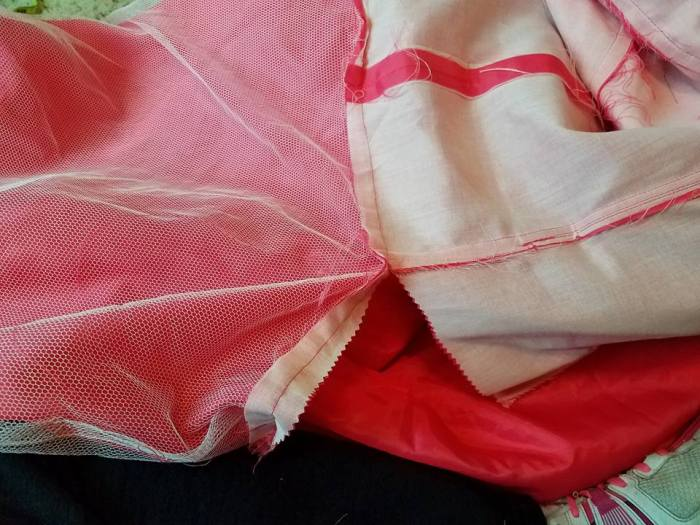removing the skirt from the bodice