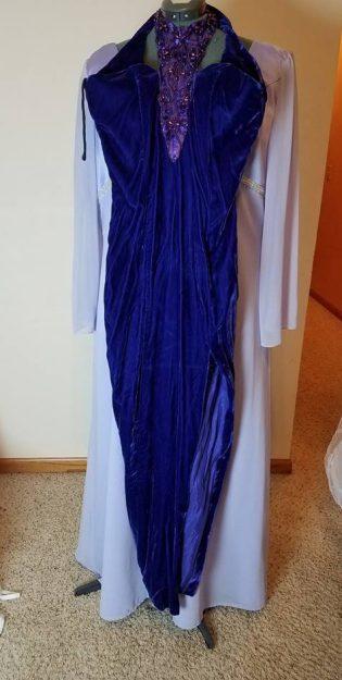 dress #2 purple velvet
