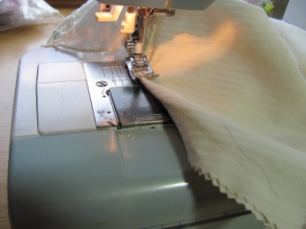 if the trim is too short, fold the raw edges under and topstitch down