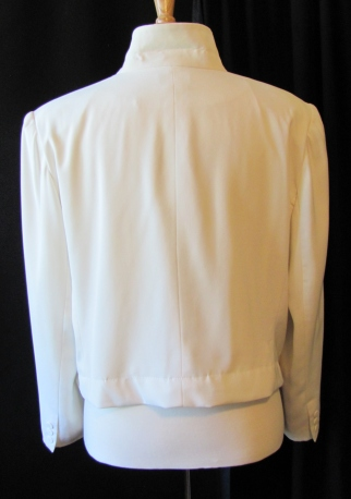back of hemmed jacket
