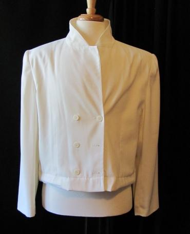 front of hemmed jacket