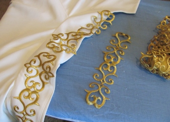iron on gold embroidered trim